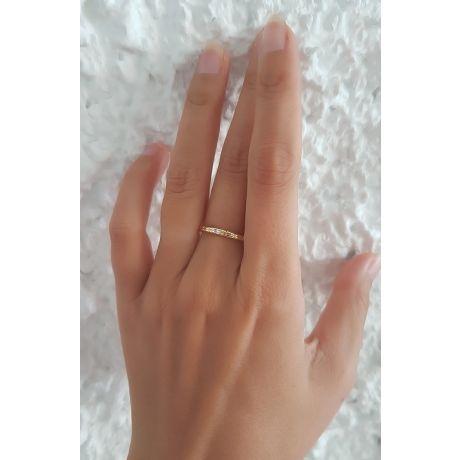 Fede Donna - Oro giallo 1.41gr - Diamante 0.018ct