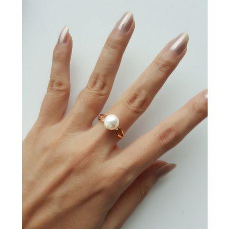 Anello oro giallo, diamanti - Perla Akoya bianca Giappone - 8.5/9mm