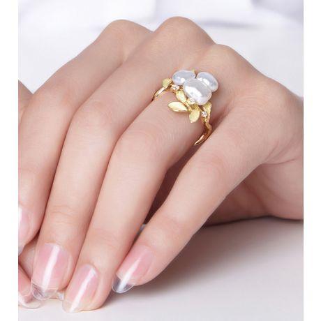 Anello Fiore Segreto 2 in perle australiane barocche