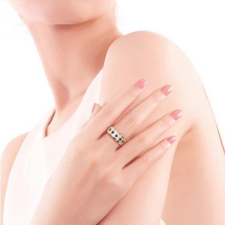 Bague Sixtine - Frivole, Rococo - Or jaune, saphir, diamant