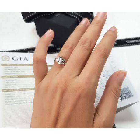 Solitaire anneau ensorcelé - Or blanc 18cts et diamant 0.20ct | Gemperles