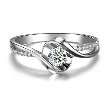 Anello di Fidanzamento Poesia di Diamanti - Oro Bianco 18kt e Diamanti | Gemperles