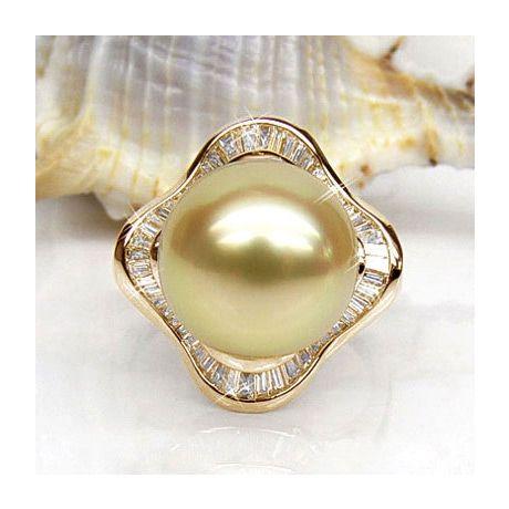 Bague Archipel Bonaparte - Perle d'Australie - Or jaune, diamants