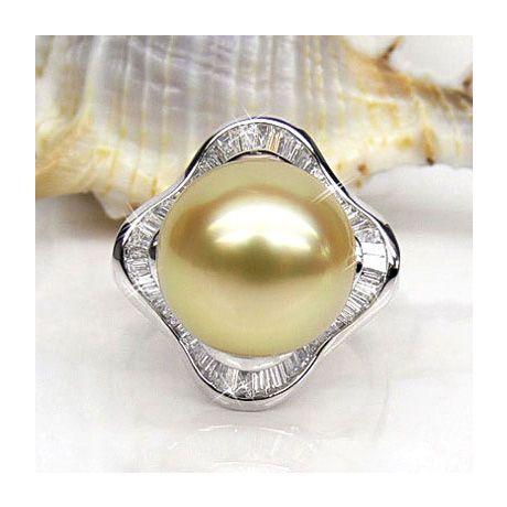 Bague Archipel Bonaparte - Perle d'Australie - Or blanc, diamants