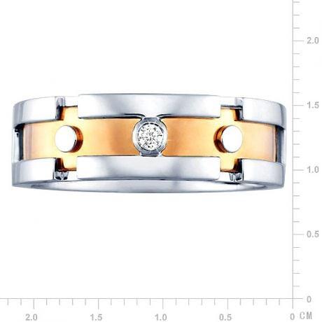Anello Uomo - Oro bianco, rosa 7.50gr - Diamanti 0.025ct