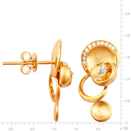 Boucles d'oreilles or jaune - Diamants 0.15ct