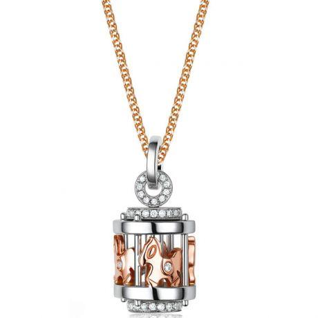 Ciondolo - Due ori 1.05gr - Diamanti 0.170ct
