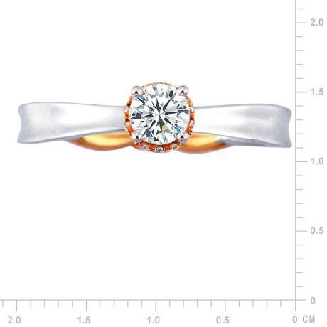 Anello di Fidanzamento Composto Royal - Due Ori & Diamanti | Gemperles