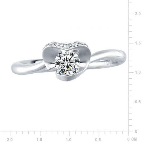 Anello di Fidanzamento Dalida - Fiore in Oro Bianco & Diamanti VS/G | Gemperles