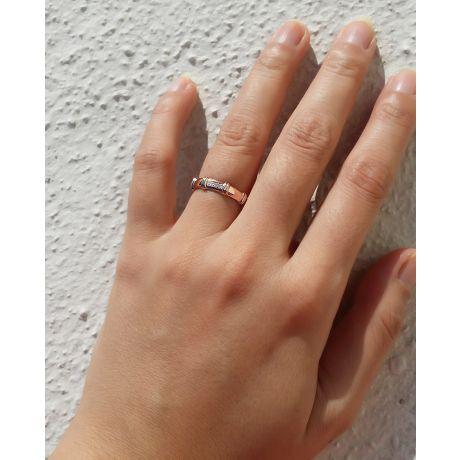 Alliance en or rose 18 carats - Alliance diamants pour Femme   Constance