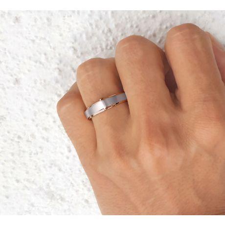 Bague Homme en Diamants, Or blanc et rose   Montserrat