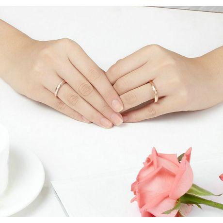 Alliance moderne Homme en Or rose et Diamant   Quinto
