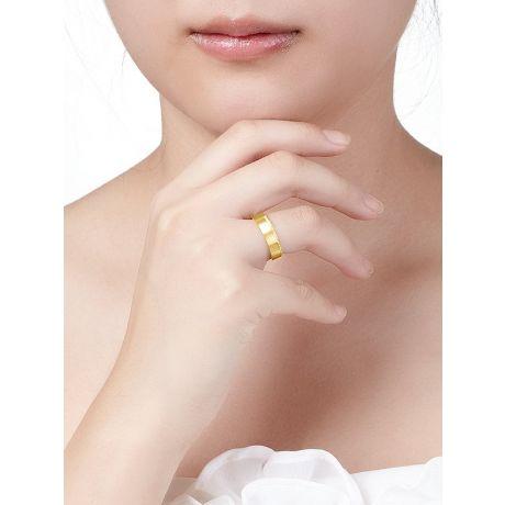 Alliance Prielle - Or Jaune Brossé 18cts pour Femme - Liseré de 19 Diamants | Gemperles
