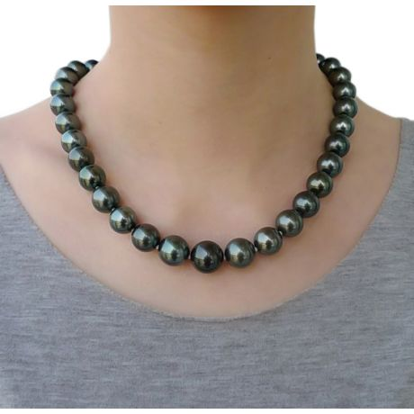 Collier en perles noires de Tahiti - 11/13mm, AAB