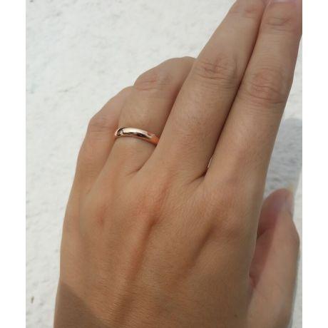 Alliance en or ronde - Alliance Femme Or rose - Diamant