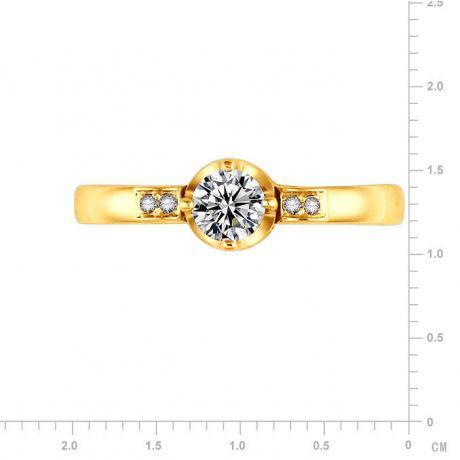 Bague de Fiancaille Solitaire Peterson -  Or Jaune & Diamants | Gemperles