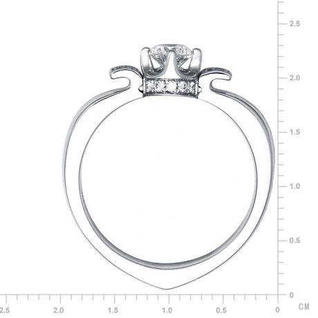 Anello Solitario di Fidanzamento Peterson - Oro Bianco & Diamanti | Gemperles