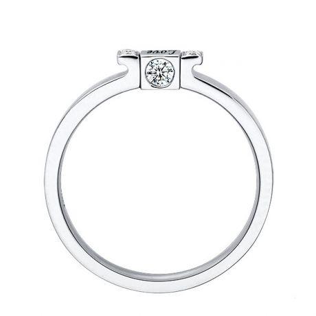 Solitaire pendentif Love - Or blanc, diamant | Love Passion