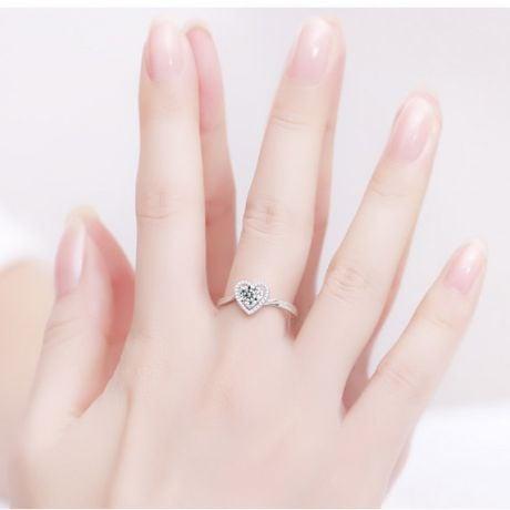 Bague Solitaire Mon Coeur en or blanc & Diamants | Gemperles