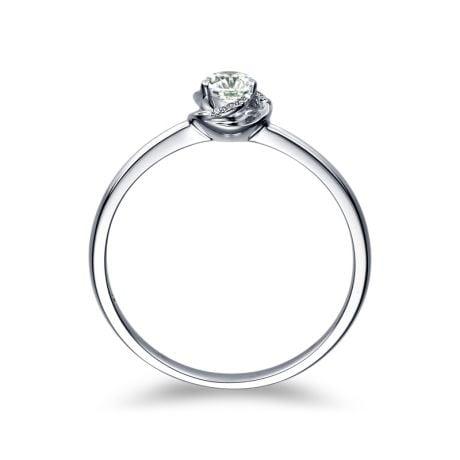 Solitaire Le Tourbillonnant Or Blanc - Diamants Sertis Griffes, Grains | Gemperles