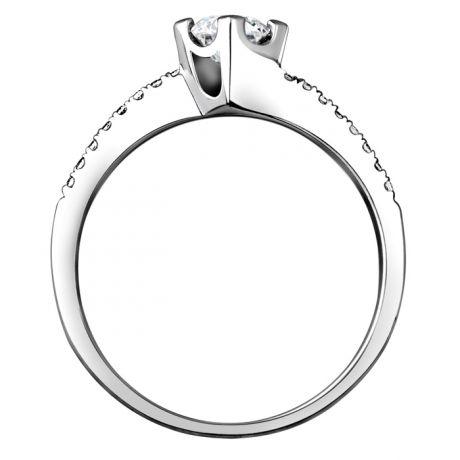 Anello di Fidanzamento Pericle -  Oro Bianco & Diamanti | Gemperles