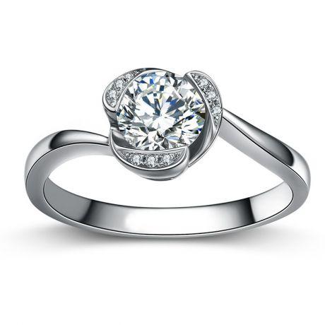 Anello di Fidanzamento Delicatezza - Oro Bianco 18k & Diamanti | Gemperles