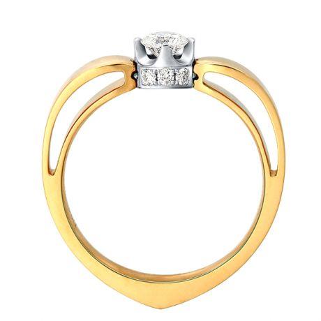 Anello di Fidanzamento Jefferson - Oro Giallo & Bianco, Diamante Solitario | Gemperles