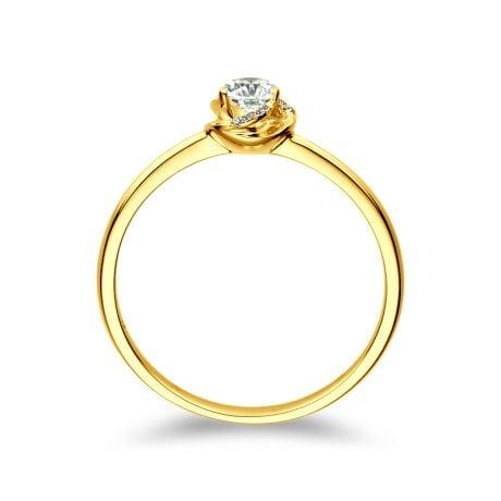 Anello di Fidanzamento Composto Le Tourbillonnant - Oro Giallo e Diamanti | Gemperles