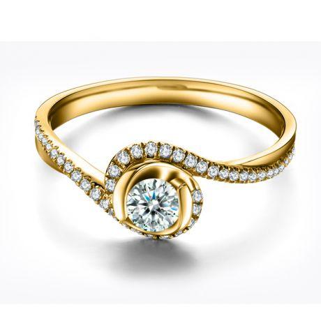 Anello Solitario Composto Ti Appartengo - Oro Giallo & Diamanti | Gemperles