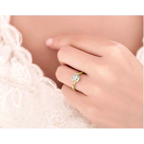 Anello di Fidanzamento Delicatezza - Oro Giallo 18kt & Diamanti | Gemperles