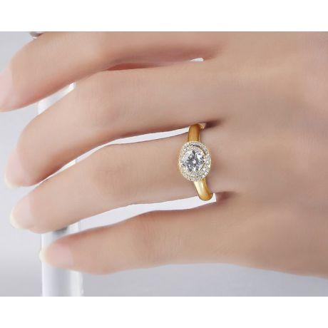 Anello di Fidanzamento Grazioso - Oro Giallo 18kt & Spirale Diamanti | Grazioso