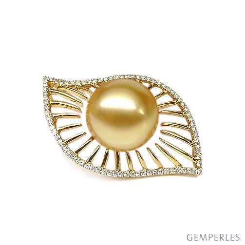 Pendentif perle d'Australie - 12/13mm - GEMME