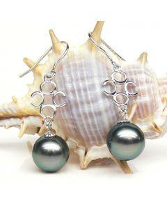 Boucles oreilles perles de Tahiti - 9/10mm - GEMME