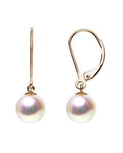 Boucles d'oreilles perles eau douce blanches - 8/9mm - GEMME - Or jaune
