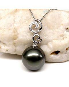 Pendentif perle de Tahiti - 12/13mm - AAA