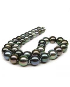 Collier perles Tahiti multicolores - Perles luxe Polynésie française