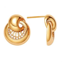 Boucles oreilles coquillages or jaune - Pendants diamants joaillerie