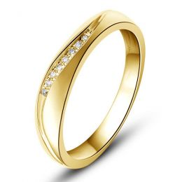 Alliance or mariage - Alliance diamants - Or jaune, Homme