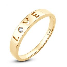 Alliance Love - Alliance homme or jaune - Diamant