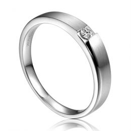 Alliance de fiançaille 2012 - Alliance pour Homme - Or blanc, diamant