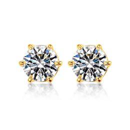 Puces diamants 0.50ct. Or jaune - Carat personnalisable