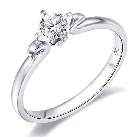 Solitaire Diamant Griffe Weston - Bague Fiancaille en Or Blanc | Gemperles