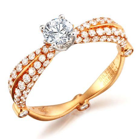 Anello di Fidanzamento Angelfire - Oro Bianco & Rosa, Diamanti | Gemperles