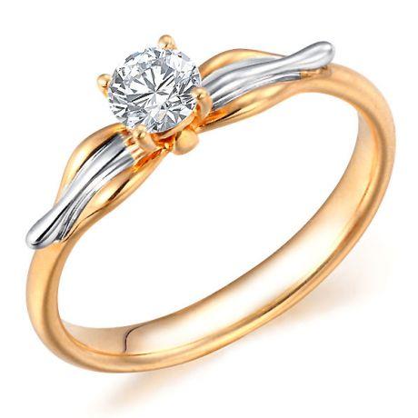 Anello Davana - Diamante Solitario, Oro Rosa & Bianco 18ct | Gemperles