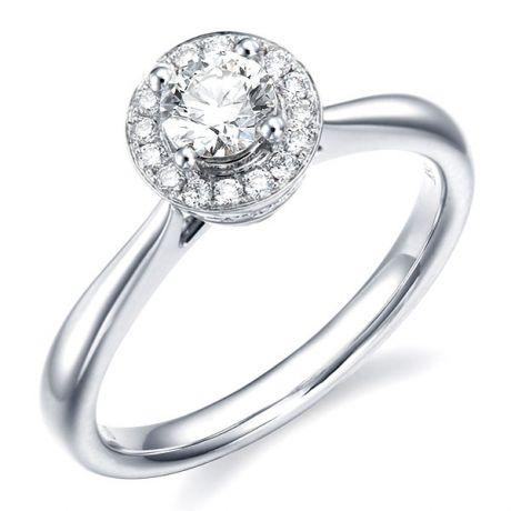 Anello di Fidanzamento Corona Diamantata - Oro Bianco & Giallo 18kt, Diamanti | Gemperles