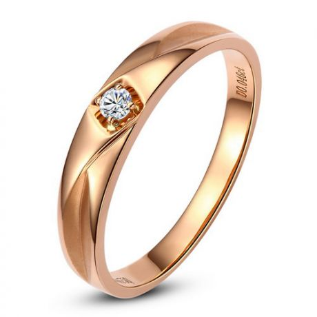 Alliance diamant or rose - Alliance pour Lui