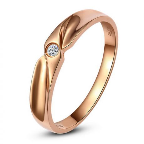 Alliance originale or rose - Alliance Femme - Diamant