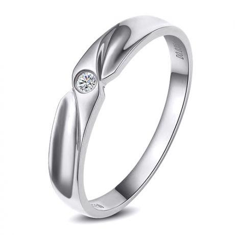 Fede Donna - Oro bianco 2.3gr - Diamante 0.025ct