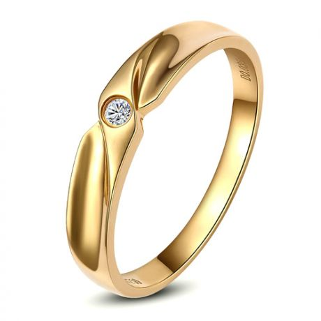 Fede Donna - Oro giallo 2.3gr - Diamante 0.025ct