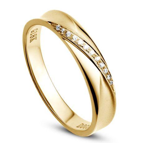Fede nuziale Donna in Oro giallo e Diamanti | Emilia